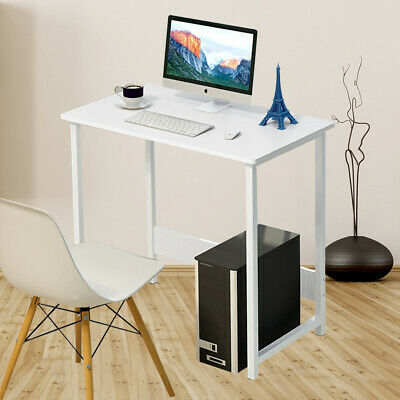 £21.98 • Buy Folding Study Desk For Small Space Home Office Desk Laptop Writing Table White