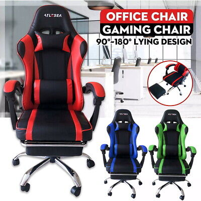 AU84 • Buy Gaming Chair Office Chair Computer Executive Chairs Seating Footrest Racer AUS