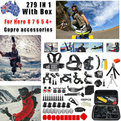 AU42.99 • Buy GoPro Accessories For Hero 9 8 7 6 5 4 Pack Storage Chest Head Floating Monopod