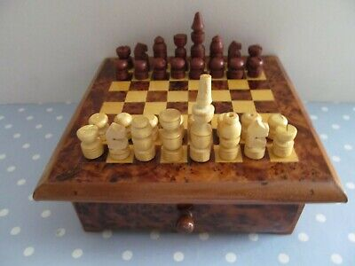 £40 • Buy Vintage Wooden Chess Set In A Wooden Case /  Board With Drawer