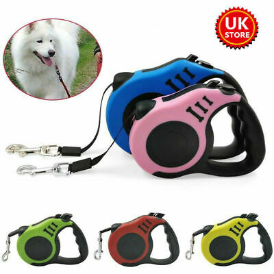 £6.69 • Buy Durable Retractable Dog Leads Nylon Lead Extending Puppy Walking Running Leashs