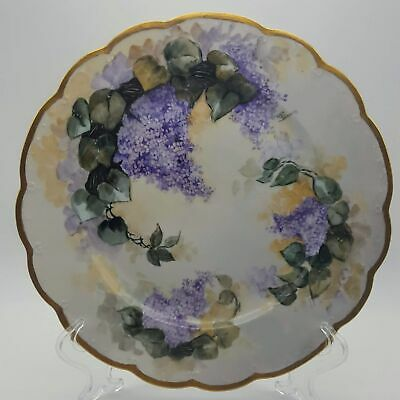 $29.86 • Buy Mz Austria Hand Painted Floral Lilac Flowers Plate Scalloped  8-3/4
