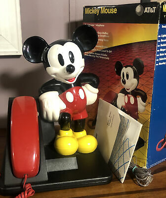 £17.96 • Buy Collectable Disney Mickey Mouse Design Line AT&T Land Line Touch Tone Telephone