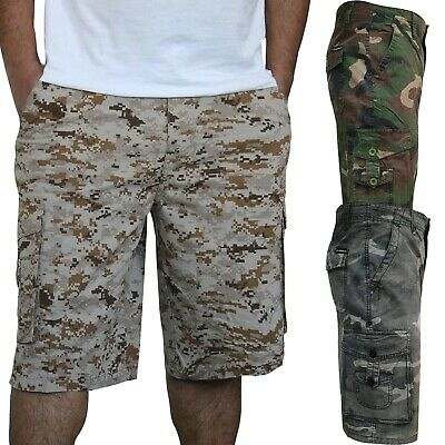 £7.99 • Buy Mens Army Camouflage Cargo Combat Shorts Causal Work Cotton Half Pants 30-38