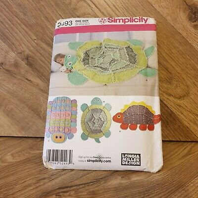 £9 • Buy Simplicity Sewing Patterns Animal Blankets 2493