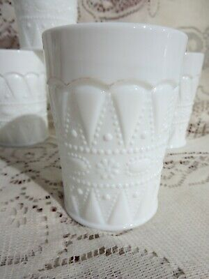 $17.05 • Buy Vintage Kemple Lace And Dewdrop Pattern Milk Glass 6oz Flat Tumbler (s) 3 3/4