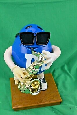 $31 • Buy M & M'S COLLECTIBLE M & M Peanut Blue Playing The Saxophone Candy Dispenser MM