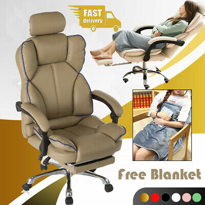 AU79.99 • Buy Gaming Chair Office Computer Executive Chairs Seating Footrest Racer Adjustable