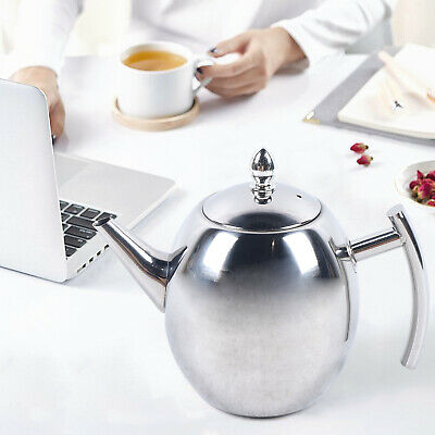 £13.50 • Buy 1.5L Stainless Steel Metal Teapot W/Infuser Filter Coffee Tea Pot Catering/Home