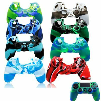 AU8.99 • Buy Camouflage Silicone Rubber Skin Grip Cover Case For PlayStation 4 PS4 Controller