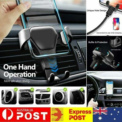 AU10.69 • Buy Universal Gravity Car Holder Mount Air Vent Stand Cradle For Mobile Cell Phone