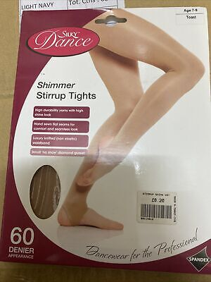 £3 • Buy Childrens Convertible Ballet Tights Girls Dance Tights In Tanned Ages 7-9