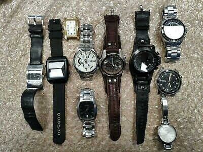 $82 • Buy LOT Of 10 Pcs Fossil Watch For Parts Or Repair!
