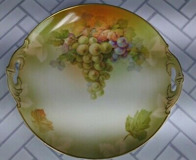 $44.99 • Buy M Z  Austria Hand Painted Orchard Theme Plate With Handles