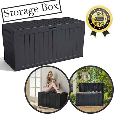 £50.99 • Buy XL Large Keter Storage Shed Garden Outdoor Box Lockable Outside Box With Wheels