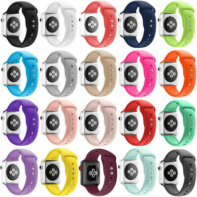 $ CDN27.47 • Buy 8 Pack For Apple Watch Strap Band Series 6 SE 5 4 3 38/40/42/44mm SILICONE Sport
