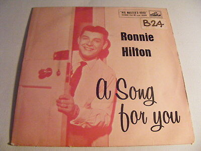 £3.92 • Buy RONNIE HILTON A Song For You   HMV 1950s UK P/S EP