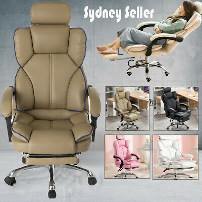 AU147.99 • Buy High Back Office Chair PU Leather Executive Recliner Computer Gaming Chairs Seat