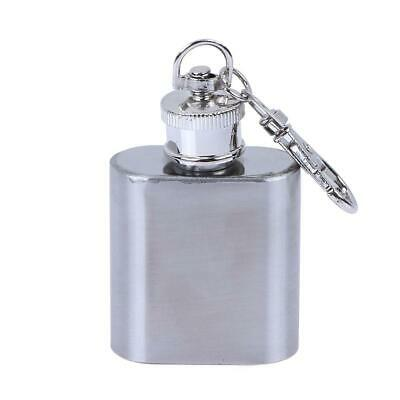 £0.01 • Buy 1oz 28ml Portable Mini Stainless Steel Flask Wine Bottle With Keychain