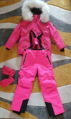 £25 • Buy 💞 Girls Winter Snow Suit Coat Age 10-11 Years Snow Salopettes Trousers 10-11