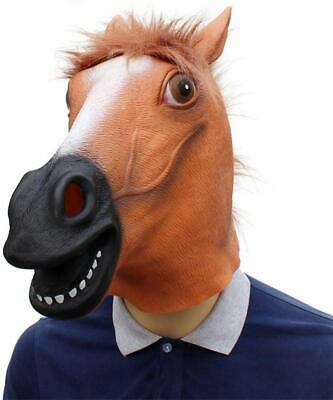 £8.29 • Buy Rubber Horse Head Mask Fancy Dress Party New Year Adult Costume