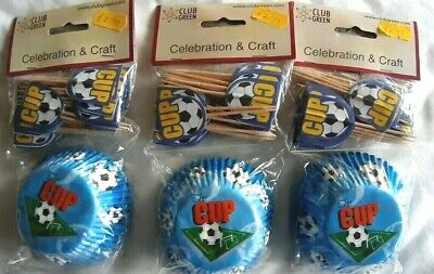 £5.99 • Buy Blue Football Baking Cupcake Cases Party Packs  X 3 Pk  Cake Decorating REDUCED!