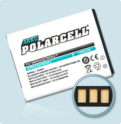 £11.90 • Buy PolarCell Replacement Battery For Samsung Galaxy Y GT-S5360 Pocket GT-S5300
