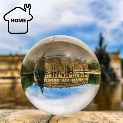 £4.99 • Buy 60mm Clear Crystal Ball Photography Glass Lens Sphere Ball Photo Decorate UK