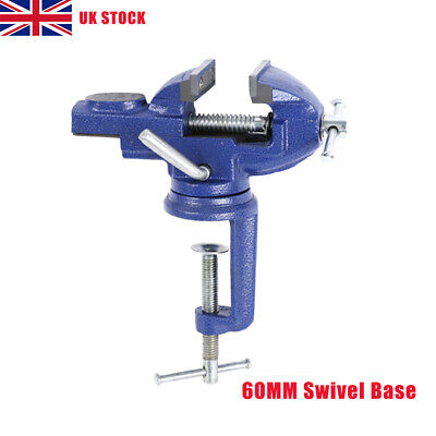 £16.99 • Buy UK 60mm MINI CLAMP ON BABY BENCH VICE WITH SWIVEL BASE TABLETOP WORKBENCH