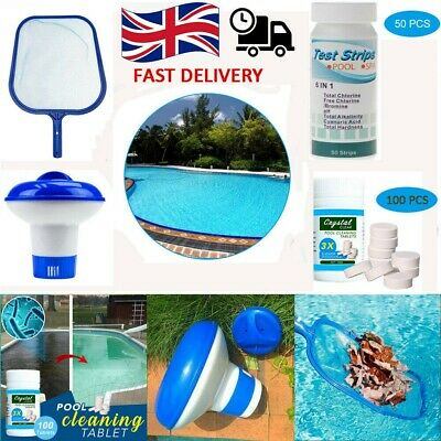 £13.99 • Buy Cleaning Tablets  Swimming Pool Floating Chlorine Hot Tub Chemical Dispenser Net