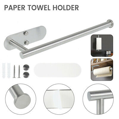 £8.96 • Buy Bathroom Kitchen Paper Towel Holder Roll Holder Stand Self Adhesive Wall Mount