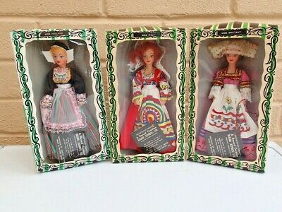 £11.95 • Buy Vintage Rexard 7in Doll Bundle (x3) Miss Italy Miss Brittany Miss Holland