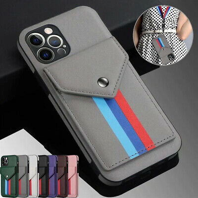 AU14.59 • Buy For IPhone 12 Pro Max 11 8/7/6 XR Synthetic Leather Wallet Cards Case Back Cover
