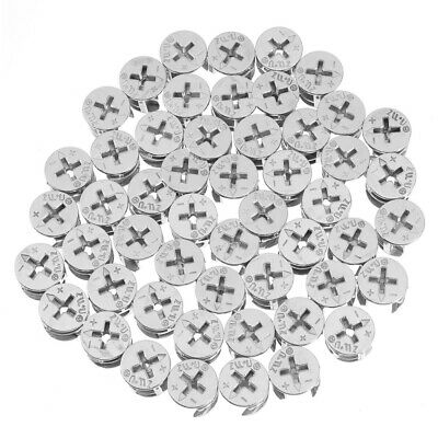 £5.47 • Buy 50Pcs 15mm CAM LOCK FIXING FURNITURE FITTING DOWEL ASSEMBLY FOR CABINET DRAWER