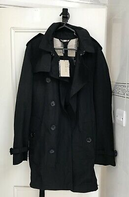 $722.24 • Buy NEW Burberry Brit Mens Black Classic Trench Coat Large UK 40 EU 50 With Tags