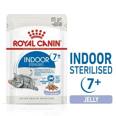 £17.87 • Buy Royal Canin Indoor Sterilised 7+ Senior Cat Food Pouches In Jelly (12 X 85G)