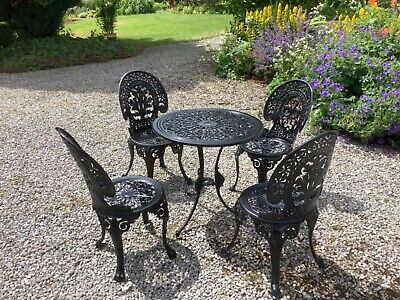 £310 • Buy Cast Aluminium Garden Table And 4 Chairs