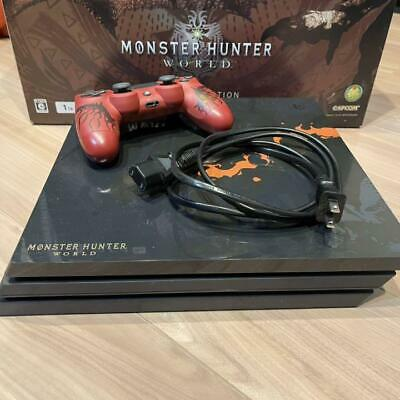 AU641.62 • Buy PS4 PlayStation 4 Pro Console System MONSTER HUNTER WORLD LIOLAEUS EDITION SONY