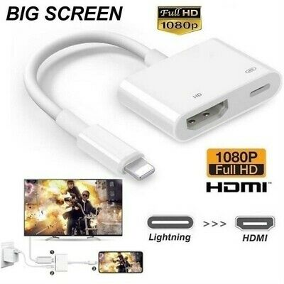 £7.95 • Buy 8 Pin To Digital AV TV HDMI Cable Adapter 1080P For IPad Air Apple IPhone X