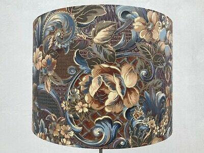 £23 • Buy Stunning Vintage Floral Liberty Fabric Lampshade - Brown Blue Gold - Handmade