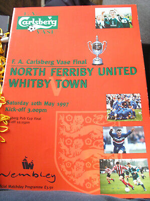 £1.50 • Buy North Ferriby United V Whitby Town 1997/98 Fa Vase Final
