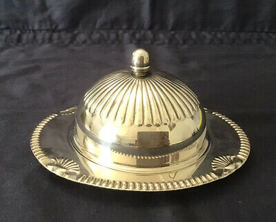 £19.99 • Buy Vintage Falstaff Silver Plated Butter Dish With Glass Insert