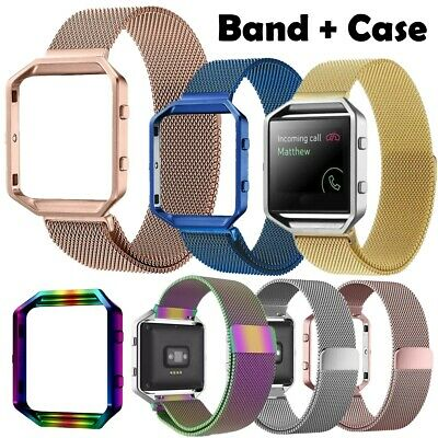 AU11.80 • Buy Luxury Milanese Magnetic Loop Band Straps + Frame Case Cover For Fitbit Blaze
