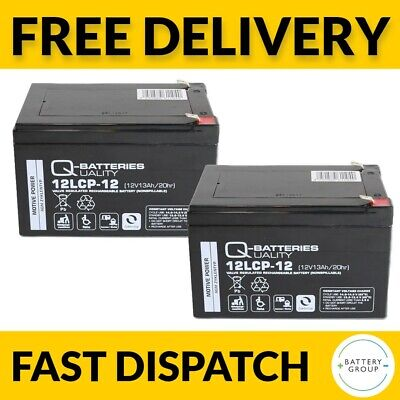 £41.99 • Buy Pair Of 12Ah AGM Battery 12LCP-12 12V 12Ah TGA Eclipse / Zest Replacement