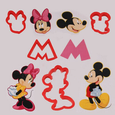 £2.99 • Buy 5Pcs Mickey Mouse Cutter Cake Biscuit Cookies Pastry Mold Baking Fondant Mold 3D