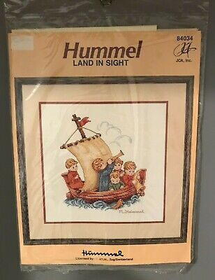 £14.65 • Buy Vintage JCA, Inc HUMMEL  Land In Sight  Counted Cross Stitch Kit #84034