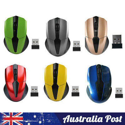 AU10.99 • Buy Wireless Mouse Cordless Optical Games Mice 2.4GHz USB For PC Laptop Computer
