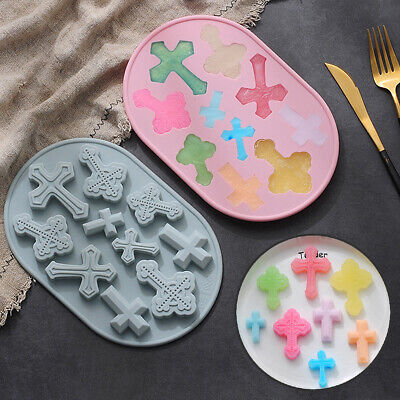 £3.39 • Buy Silicone Chocolate Mould 10pcs Cross Cake Ice Cube Tray Jelly Cookie Candy Mold