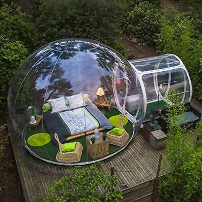 AU297.57 • Buy New Outdoor Camping Bubble Tent Clear Inflatable Air Dome Transparent Tent