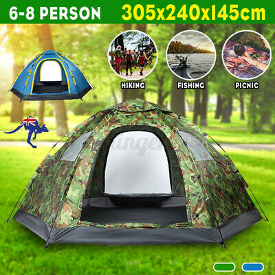 AU69 • Buy AU 6-8 Person Instant Up Tent Family Waterproof Dome Hiking Beach Camping Tent